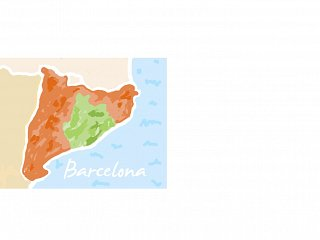 Map of Catalonia with Barcelona Province