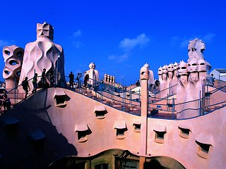 The roof of La Pedrera