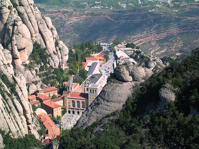 Montserrat from the top of the mountain looking down