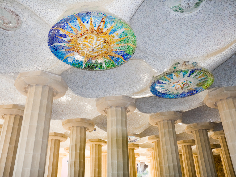 Mosaic ceiling at Parc Guell