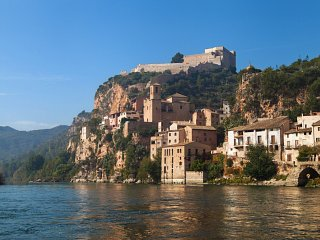 Miravet castle from the Ebro river