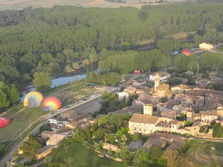 Village of Colomers from the air