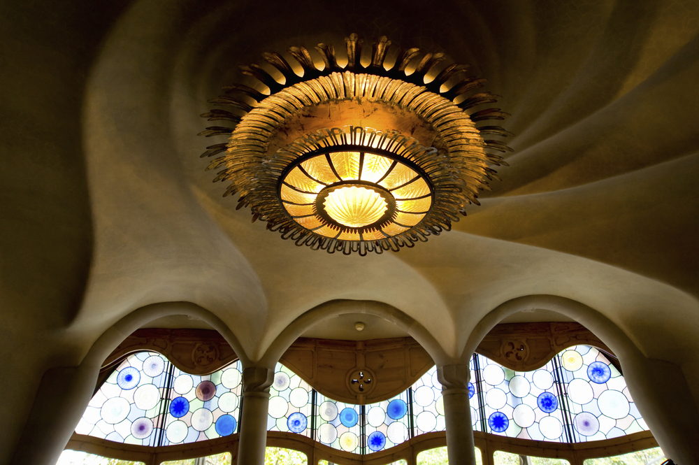 The ceiling of the Casa Batllo