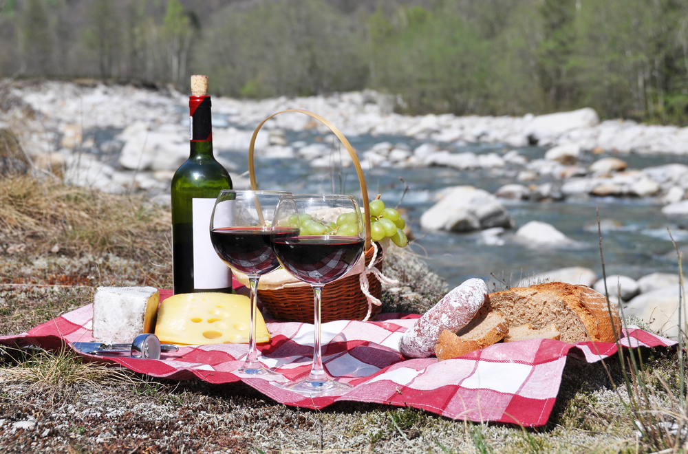 Picnic by a stream